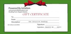 PbI Gift Certificate