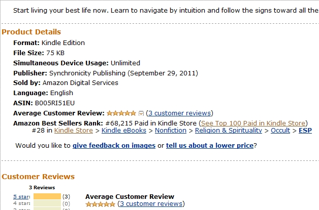 Navigating by Intuition, Top 100 Kindle Book Store, Best Seller