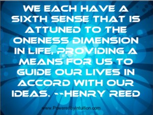 Hentry Reed quote about the sixth sense