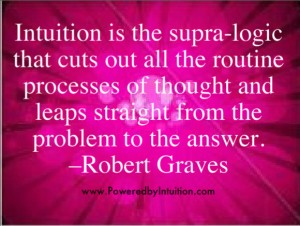 Robert Graves quote about Intuition