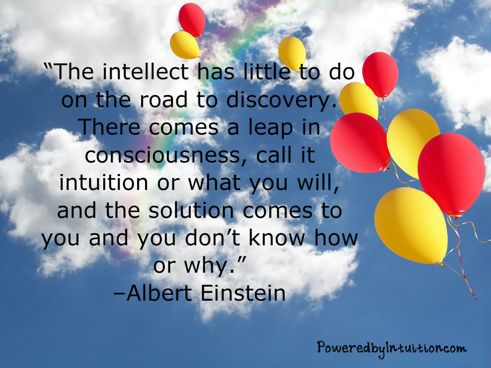 Einstein quote on the answers coming from intuition