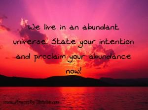 Proclaim your abundane