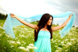 Woman enjoying abundance and prosperity