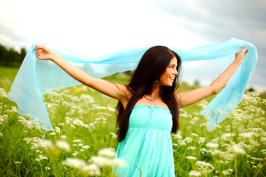 Woman enjoying abundance and prosperity