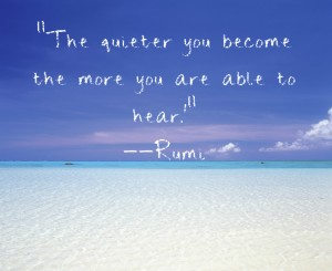 Rumi quote on Powered by Intuition dot com
