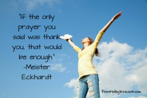 Meister Eckhardt quote about prayer