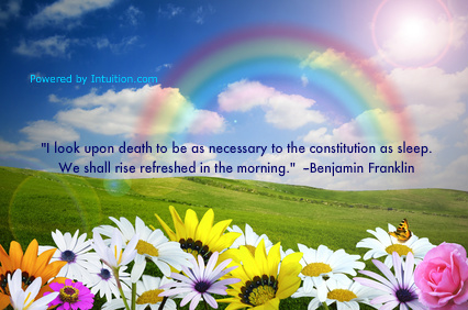 Benjamin Franklin quote about life after death banner