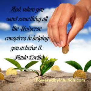 Universe conspires Paulo Coelho quote