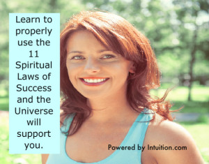 Learn to properly use the spiritual laws of sucess banner