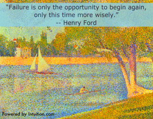 Henry Ford quote on Seurat painting