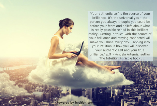 Self Empowerment, Authenticity, Quotes, Angela Artemis, The Intuition Principle book, Powered by Intuition