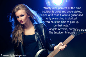 My quote about intuition being quiet and understated