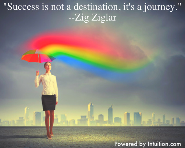 Success is not a destination Zig Ziglar
