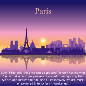 Paris, Gratitude, Thanksgiving day
